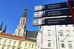 Procházka podzimní Olomoucí.