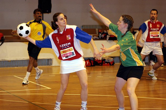 Klára Zábojová v utkání proti Austrálii