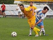 V posledním 26. kole 1.A třídy skupiny A zvítězili fotbalisté Přímětice nad Dobšicemi 3:1.
