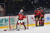 Hokejisté Znojma se utkali se soupeřem z Dornbirnu na domácím ledě.
