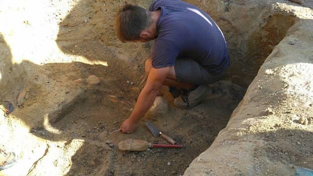 Archeologové našli v Hrušovanech nad Jevišovkou kostru z doby bronzové