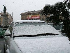 Na Znojemsko se těsně před příchodem jara vrátil sníh
