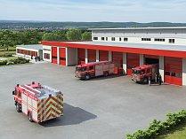 Vizualizace nové požární stanice znojesmkých hasičů. Ilustrační foto.