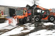 Zimní údržba silnic na Znojemsku.