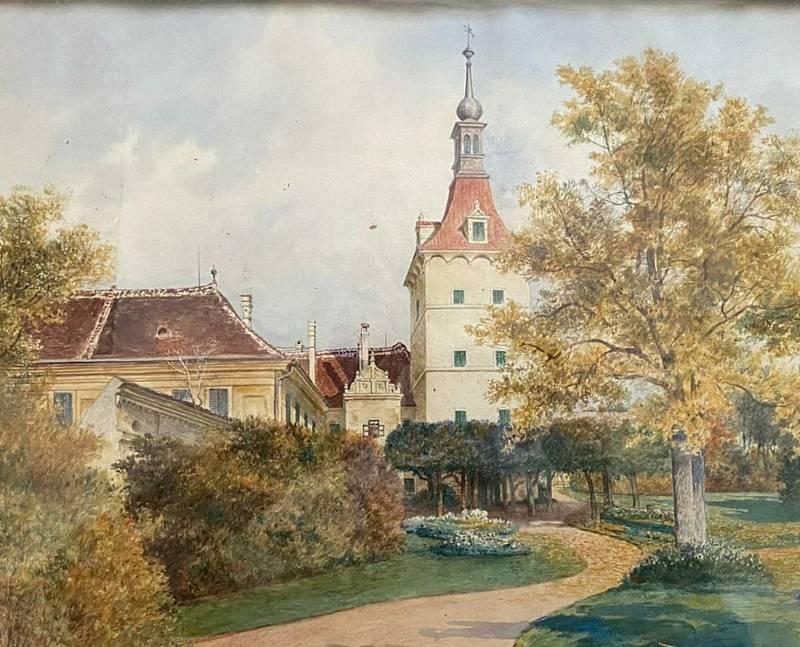Obnova Státního zámku Uherčice na Znojemsku. Park v době rodu Collalto na počátku 20. století