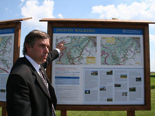 Ředitel Znovínu Znojmo Pavel Vajčner u projektu Znovín Walking.