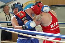 Boxeři bojovali ve druhé lize.Vůbec svůj první zápas v životě boxoval Milan Svačina.
