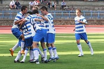 Fotbalisté 1. SC Znojmo.