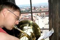 V rámci hudebního festivalu naposledy zahrála živá hudba z Radniční věže ve Znojmě.