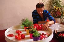 Tradiční výstavu Znojemsko zahrada Moravy chystali ve středu organizátoři v sálech Louckého kláštera. Začíná ve čtvrtek.