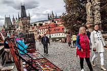 Z podzimní procházky Prahou.