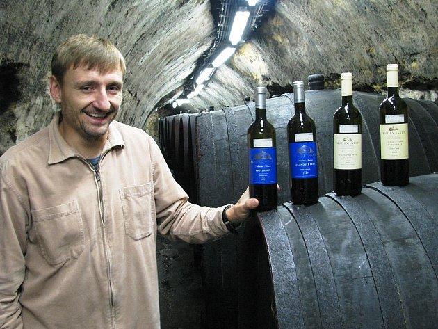 Sklepmistr Modrého sklepa Antonín Koníček.