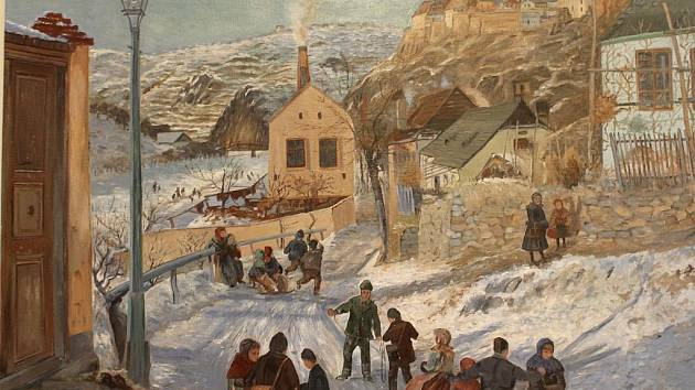 Ště-Pánkovi vystavují v mazhausu na Masarykově náměstí ve Znojmě.