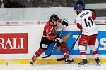 Hokejový tým České republiky sehrál ve středu přípravné utkání na znojemském zimním stadionu proti Rakousku.