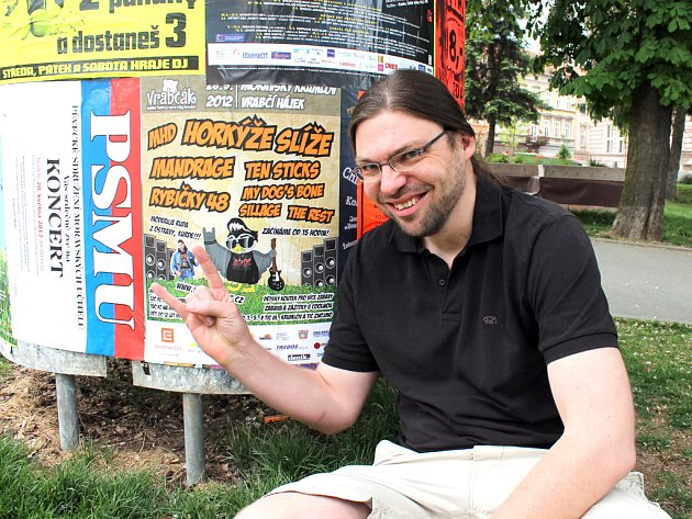Organizátor Vrabčák festu Pavel Kovařík.