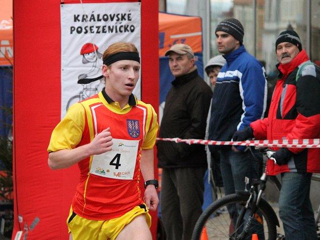 Vojtěch Čabala při Adventním běhu Znojmem.