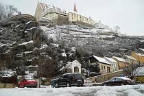 Na Znojemsku napadl první sníh.