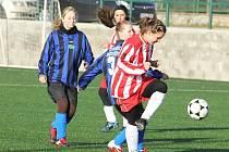 Fotbalistky Jevišovic a Tasovic si užily silvestrovský zápas.