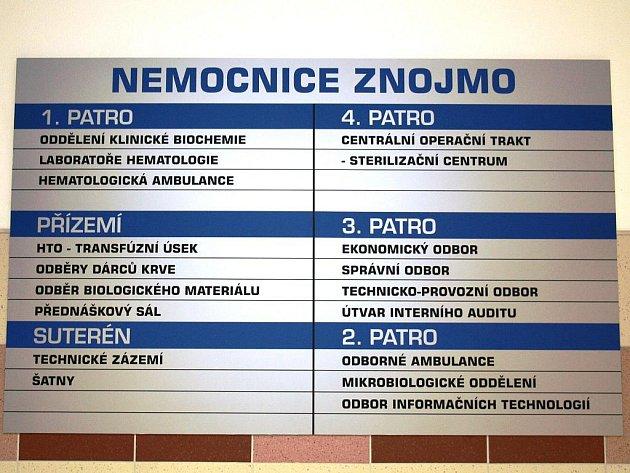 Znojemská nemocnice - ilustrační foto.