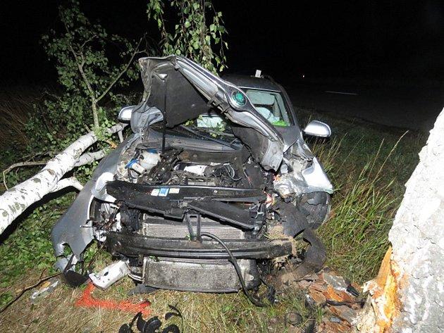 Dopravní nehoda uobce Dobelice.