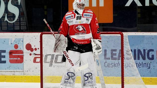 Brankář hokejistů Znojma Dominik Groh.