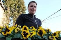 Majitelkou zahradnictví U Mikešů je Kateřina Brabencová.