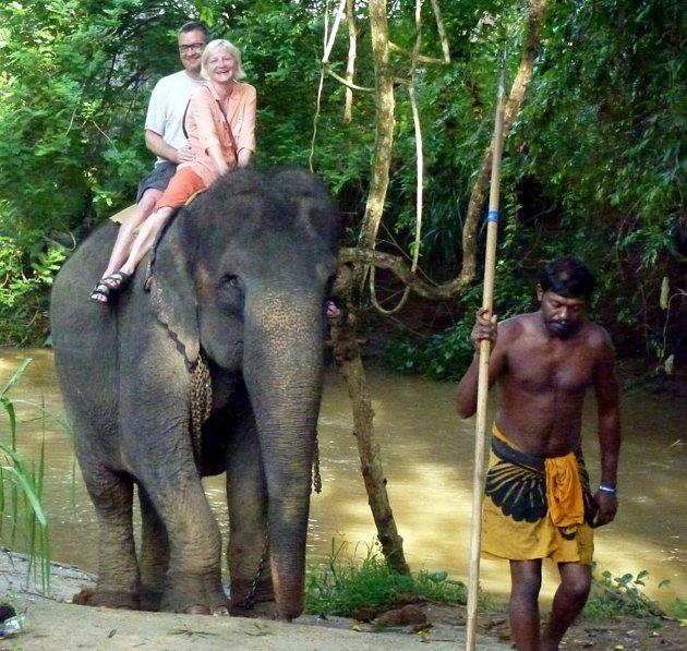 Smanželkou na Srí Lance.