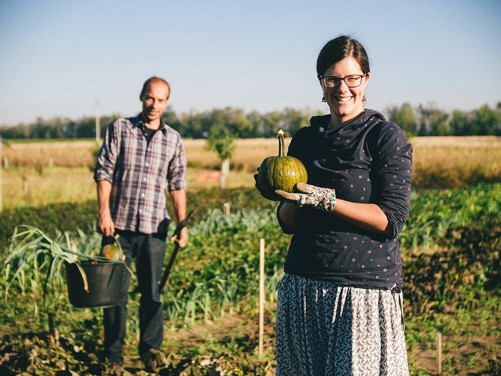 Kožnarovi na své Živé farmě v Šanově na Znojemsku.