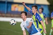 Fotbalové utkání Divize D mezi TJ Slavoj TKZ Polná a TJ Sokol Tasovice.