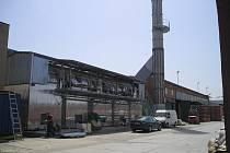 Areál firmy Heluz v Hevlíně