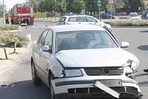 Odpolední nehoda uprostřed Hevlína.