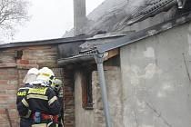 Požár domu ve Vítonicích.