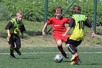 Do Jevišovic se sjeli malí fotbalisté.