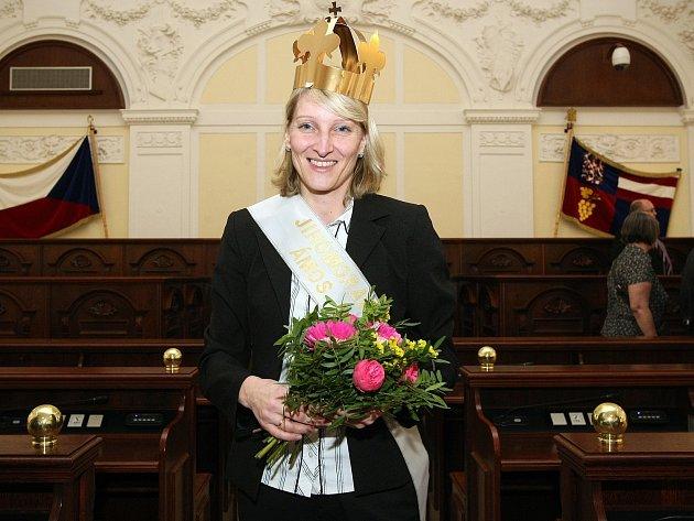 Vítězka ankety o nejoblíbenějšího učitele České republiky Gabriela Bajková ze znojemské Základní školy Mládeže.