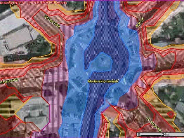 Hluková mapa - Mariánské náměstí