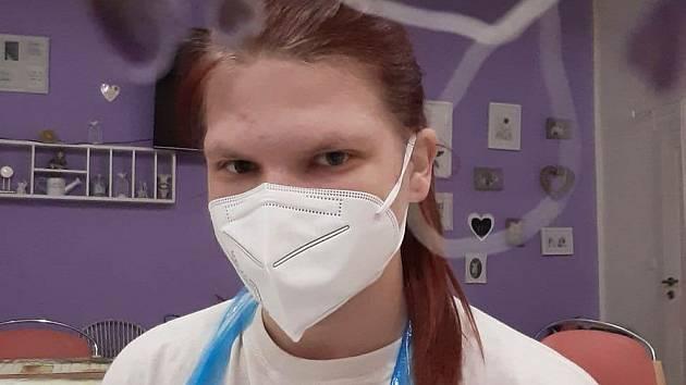 Veronika Holubářová pomáhala při druhé vlně covidové pandemie v domově pro seniory ve Skalici na Znojemsku.