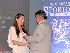 Plavkyně a potřetí nejúspěšnější sportovkyně Znojemska v kategorii dospělých Veronika Kolníková.