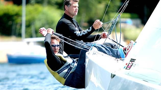 Mistři republiky třídy Star Igor Štěrba a Jiří Fetterle z Yacht klubu Znojmo.