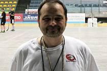 Trenér juniorů Leoš Zajíc.