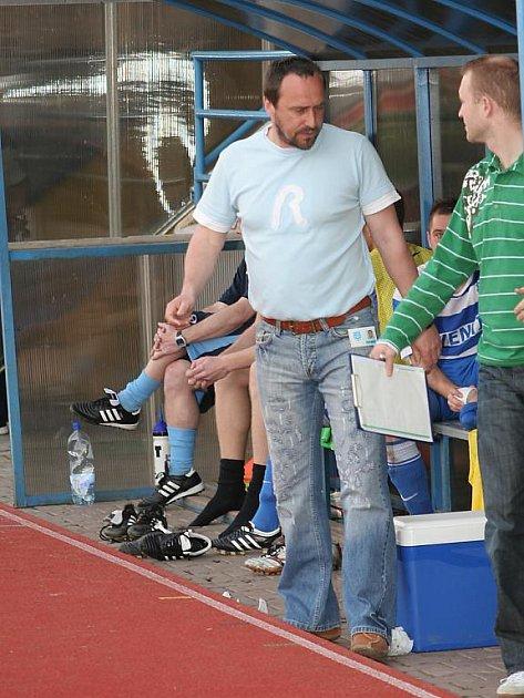 Trenér znojemských fotbalistů Michal Sobota.