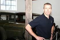 Astronaut Feustel navštívil ve Znojmě muzeum motorizmu, i starostu města.