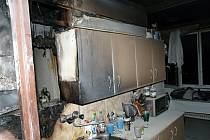 Požár bytu v Moravském Krumlově.