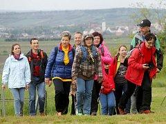 Turisté na Eurovýšlapu Retz – Znojmo.