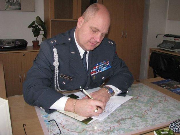Profesní poradce Armády ČR ve Znojmě Petr Hájek
