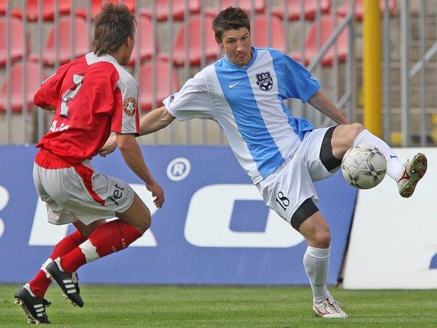 Michal Belej v zápase proti Brnu
