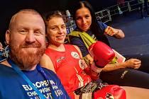 Viktorie Bulínová (uprostřed) a trenér Martin Vaňka s Karolínou Klusovou vyrazili do Minsku spolu.