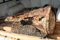 Zbytky nevybuchlé pumy z druhé světové války