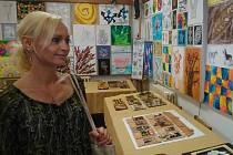 Výstava prací žáků výtvarného oboru Základní umělecké školy Znojmo.