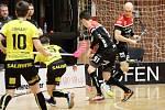 Florbalisté Znojma v sobotu prohráli s celkem Královských Vinohrad 4:5. V sérii play-down superligy tak sérii na čtyři vítězné zápasy vedou Pražané 2:1.