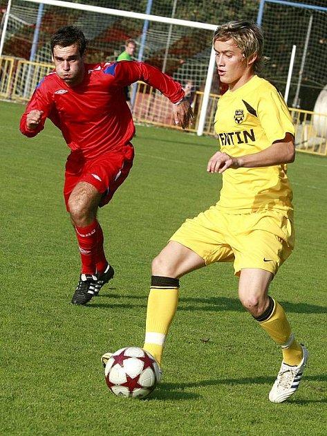 Fotbalista Jan Šilinger ze Znojma.